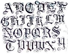 Fancy Letters Of The Alphabet  Old English Calligraphy Alphabet