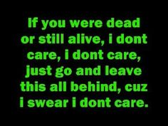 Lyrics to Apocalyptica featuring Adam Gontier of Three Days Grace - I Don't Care :] <3