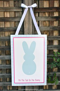 Super cute Pin The Tail On The Bunny game - free print on { lilluna.com } #easter