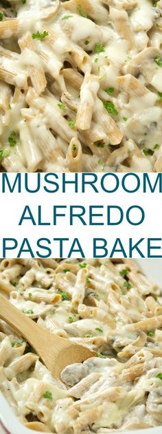 A delicious mushroom alfredo pasta bake that is ready under 30 minutes and a family favorite! You will not be disappointed!