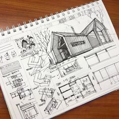Interesting Find A Career In Architecture Ideas. Admirable Find A Career In Architecture Ideas. Architecture Drawing Sketchbooks, Architecture Concept Drawings, Architecture Design, Architectural Drawings, Architecture Journal, Koshino House, Architect Sketchbook, Planer Layout, Architecture Presentation Board