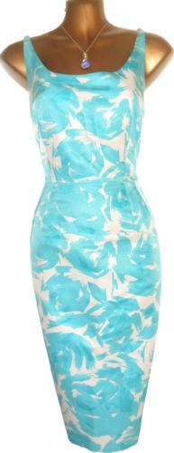 Stunning L.K.BENNETT Silk Mix Rose Print Mirage Wiggle Pencil Dress Such a lovely summer dress, I love it's pencil shape, perfect for that gorgeous hourglass silhouette!