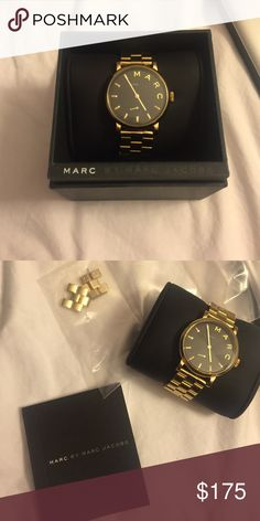 Marc Jacobs watch, great condition. Gold watch, Black Face, worn a couple times. Marc by Marc Jacobs Accessories Watches