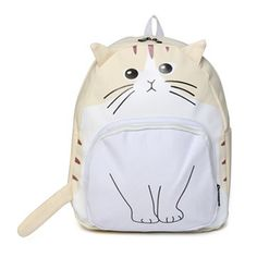 Fashion the Best Women Backpack with Ears Canvas Cat Face Backpack Girls Cute Rucksack School Students Book Bags;mochila gato
