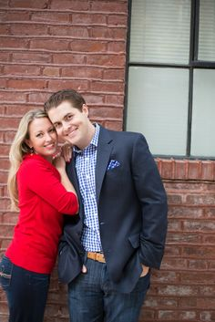 City engagement shoot captured by Heather Funk Photography