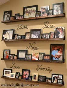 Creative Ways Diy Picture Shelves Photo Walls Hallways 70 is part of Room Decor DIY Pictures - Related