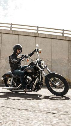 Pure. No-nonsense. | 2017 Harley-Davidson Street Bob #harleydavidsonbobbersblack