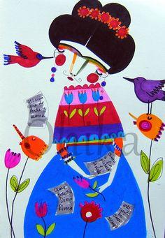 5 x7 Print   Frida  Arte y Amor by itsybitsyspill on Etsy, $9.00