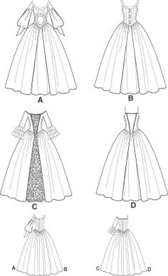 Medieval/Victorian/Colonial Dress PATTERN Wedding OOP                                                                                                                                                                                 More