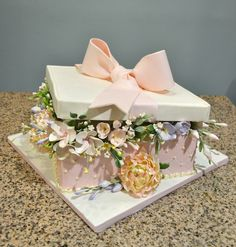 Flower Box Cake from Sugarland in Raleigh and Chapel Hill