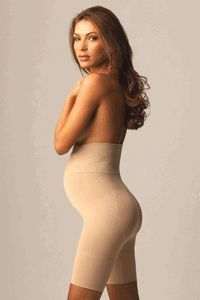 The Maternity Thigh Shaper provides excellent shaping and toning and its dedicated Tummy Panel with underbelly support helps reduce the weight and pressure of your pregnant belly, reducing symptoms of back pain. #shapewear $28 http://www.mothersboutique.com/shapewear2.html