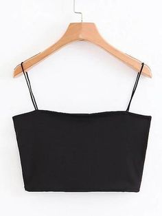To find out about the Solid Crop Cami Top at SHEIN, part of our latest Tank Tops & Camis ready to shop online today! Cami Tops, Cute Crop Tops, Cami Crop Top, Black Crop Tops, Women's Tops, Grey Crop Top, Casual Skirt Outfits, Crop Top Outfits, Vetement Fashion