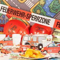 Feuerwehr Box inkl. Mottokarten. Alles für den Feuerwehr Geburtstag in einer Box!