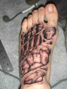open Fu bone 3D Tattoo Fu  - http://tattootodesign.com/open-fu-bone-3d-tattoo-fu/  |  #Tattoo, #Tattooed, #Tattoos