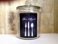 Bon Appetit Jar, Cookie Jar, French Country Home, French Decor, Cottage Decor, Home Decor, Housewares, Kitchen Decor on Etsy, $20.00