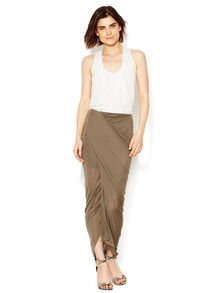 Helmut Lang Slack Jersey Wrap Skirt, 99$,  195$ retail