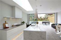 roof light in stunning kitchen #rooflight #foldingdoors #kitchen