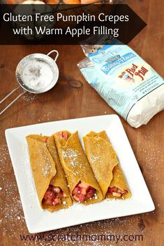 Gluten-Free Pumpkin Crepes with Warm Apple Filling
