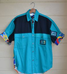 Vintage 80s Retro Old School Shirt Men's by founditinatlanta, $40.00