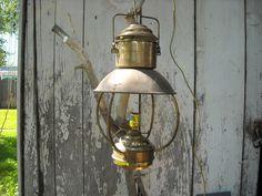 Vintage Brass lantern before