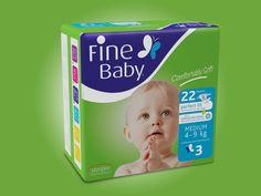 Fine Baby Medium Diapers