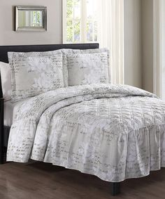 Take a look at this Taupe Rosalyn Floral Three-Piece Bedspread Set today!