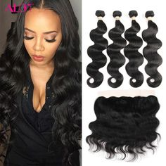 Ear To Ear Lace Frontal Closure With Peruvian Body Wave Bundles 8a Grade Virgin unprocessed  Human Hair Extensions With Closure //Price: $132.84 & FREE Shipping //     #hairextension #style #beauty #woman #love