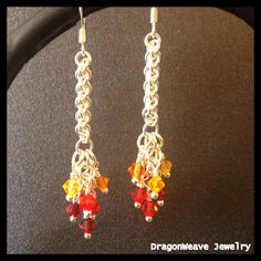 Sterling Silver and Swarovski Chainmaille by DragonweaveJewelry, $65.00