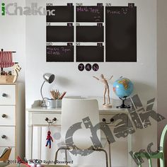 Chalkboard Wall Weekly Calendar Planner Wall Decal by iChalkInc, $58.00