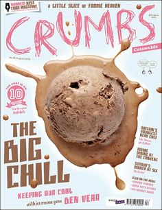 Crumbs (UK) Editor Laura Rowe Designer Trevor Gilham// Cute color theme and great typography variety Food Magazine Layout, Magazine Layout Design, Magazine Cover Design, Magazine Covers, Design Editorial, Editorial Layout, Party Set, Poster Art, Publication Design