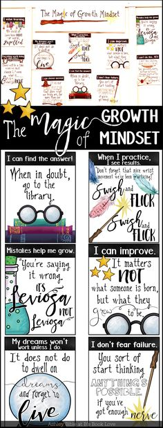 Harry Potter Growth Mindset Poster: Growth Mindset Posters and Growth Mindset Activity to use with ANY text