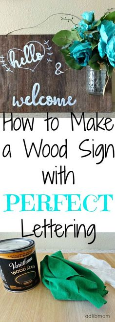 Learn how to make a sign with perfect lettering using chalk and  a paint pen.