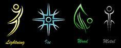 Secondary Elemental Symbols by Mistress-DarkLoki on DeviantArt