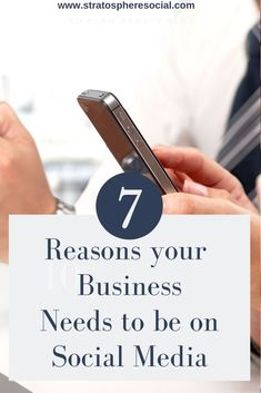 7 major reason your business needs to be on Social Media.  Social media marketing is crazy important for every business nowadays.  Don't get left behind in the dust! #socialmediamarketing #socialmediatips