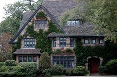 Highland Ave / David Fuller Photo (by TheFullerView) Cute House, My House, Story House, Style At Home, Beautiful Buildings, Beautiful Homes, Tudor Style Homes, Storybook Homes, House Goals