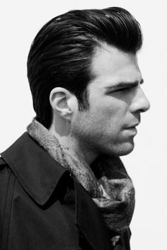 There is something very sexy about the new trends for men's hair. Think old school. Think Mad Men. Parted and tailored. I'm loving it.