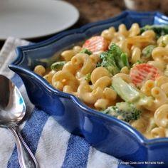 Creamy Cheddar and Vegetable Pasta  foodgawker.com
