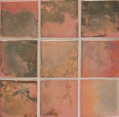 """""""Fire and Earth"""" ceramic tile. luster   peach rose gold 36-L  // Anne Sacks"""