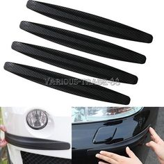 Nice Awesome 4pcs Black Car Carbon Fiber Door Bumper Scratch Guard Corner Protector Decor Kit 2018 Check more at http://24cars.ml/my-desires/awesome-4pcs-black-car-carbon-fiber-door-bumper-scratch-guard-corner-protector-decor-kit-2018/