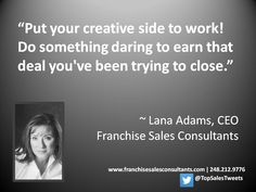 Sales IS #creative problem solving. Have #fun with it! #salestips #leadership #B2B #positivepsychology Follow on Twitter @TopSalesTweets