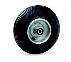 Das Luftrad eignet sich sehr gut auf unebenen Untergründen und praktiziert so gut wie keine Laufgeräusche. Es wird für geringe und mittlere Traglasten genutzt. Durch das leichtlaufende Rollenlager hat es einen sehr geringen Anlaufwiederstand. Für die Nutzung auf Boden mit spitzen und scharfkantigen Fremdkörpern etc. , gibt es eine pannensichere, ausgeschäumte Variante. Ebenso gibt es eine blaugraue spurlose Variante bei hochwertigen Böden >> Fazit: leichtlaufende, leise Rolle