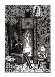 Another David Robert's illustration from Chris Priestley's book, 'Uncle Montague & Edgar'