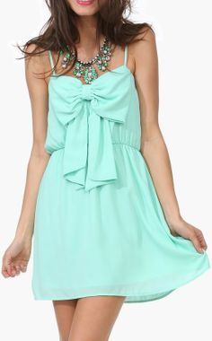 Minty Dress with a Bow! LOVE!!!