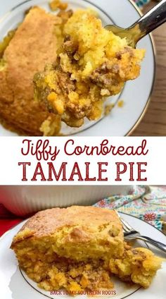 Jiffy cornbread tamale pie is a great dinner for the family because it will feed quite a few people, and if you�re like us with growing boys, you know how much they can eat. #jiffycormbread #cornbread Cornbread Tamale Pie Recipe, Jiffy Cornbread Recipes, Tamale Casserole, Tamale Recipe, Homemade Cornbread, Casserole Recipes, Mexican Food Recipes, Mexican Menu, Cheesy Recipes