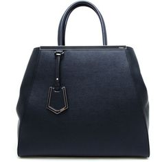 01680ea0a77a FENDI 2 Jour Grained Leather Shopper Bag-demurebyj Fendi Tote