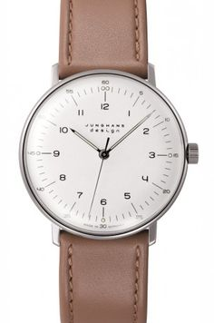 Junghans Max Bill 34,2 mm white - hand winding Mechanical 027/3701.00