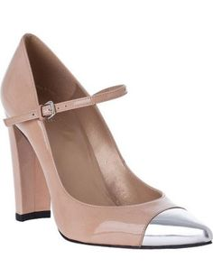 These would be perfect. The color is spot-on, the cap toe would tie in well with the silver necklace from my mom, and the toe is closed (for January nuptuals!)