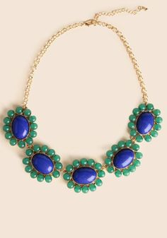 at Ruche // blue green necklace