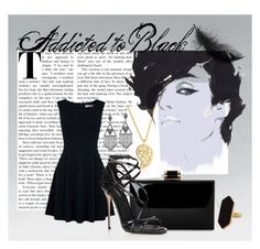 """Addicted to black"" by twindatiara on Polyvore featuring Oasis, Sonal Bhaskaran, Dolce&Gabbana, House of Harlow 1960 and Jaeger"