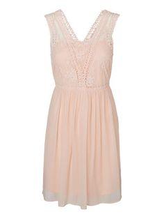 Vero Moda dress, Peach Whip, sleeveless, lace, pink